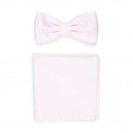 Linen Texture BowTie Set in Blush