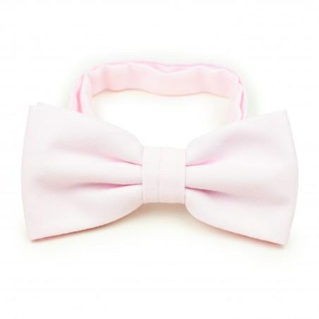 Linen Texture Bow Tie in Blush
