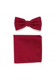Woolen Bowtie Set in Sedona Red