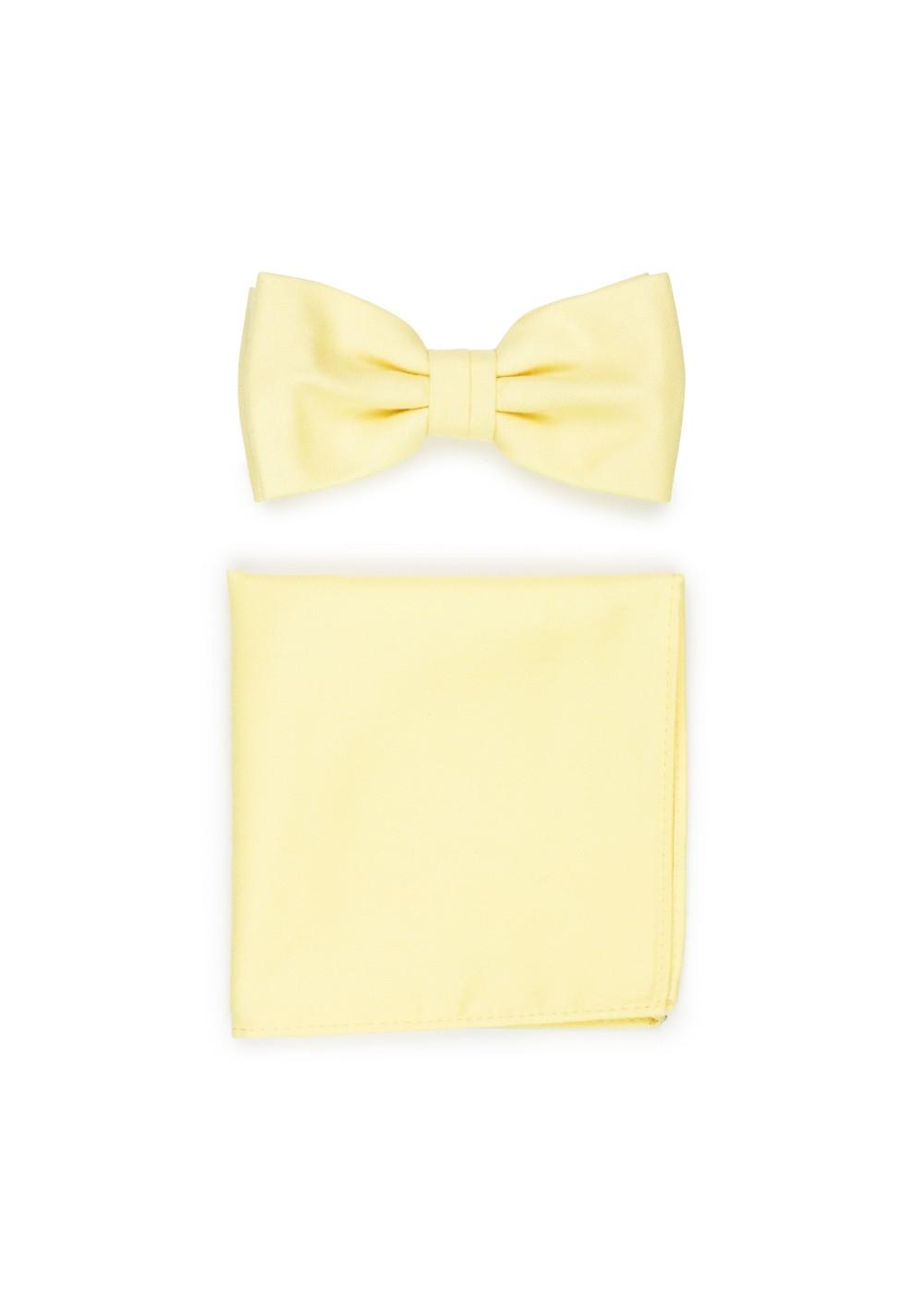 Summer Bowtie Set in Lemon Chiffon