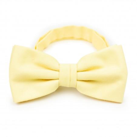 Summer Bow Tie in Lemon Chiffon