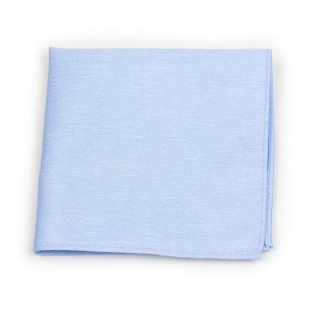 Pastel Blue Pocket Square in Linen Texture