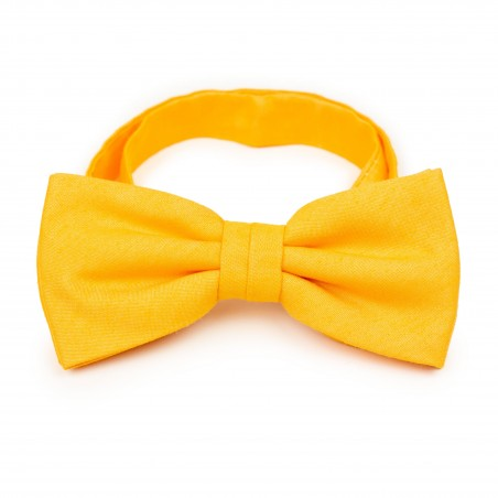 Mens Bow Tie in Marigold Yellow