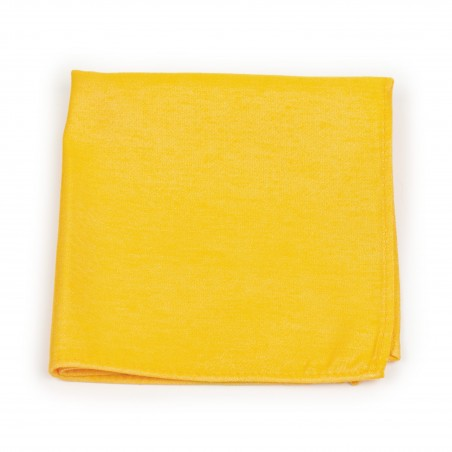 Mens Pocket Square in Marigold Yellow