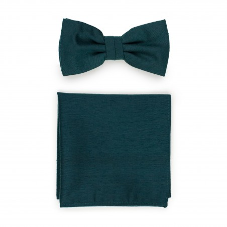 Forest Green Bow Tie Set