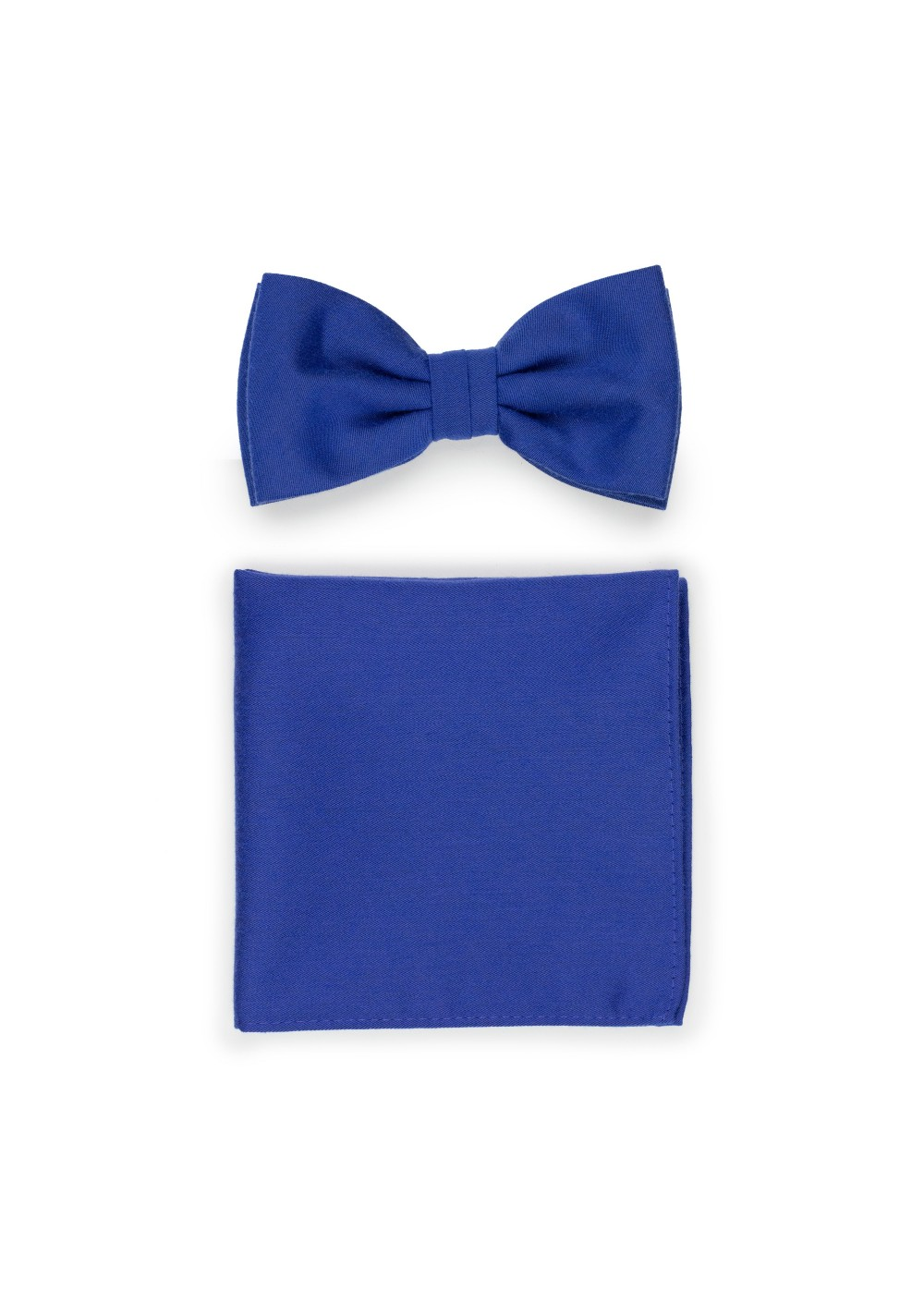 Marine Blue Bow Tie and Pocket Square Set