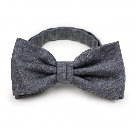 Matte Charcoal Bow Tie