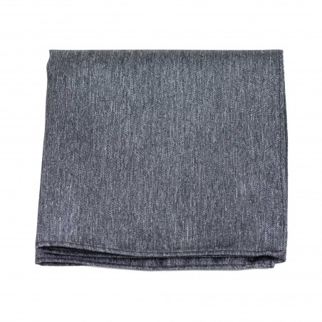 Matte Charcoal Pocket Square