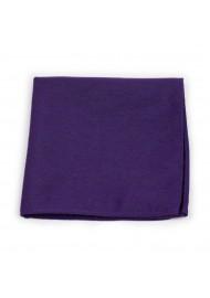 Grape Purple Pocket Square Matte Finish