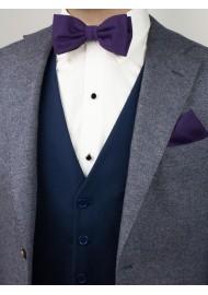 Grape Purple Bowtie Set in Matte Finish Styled