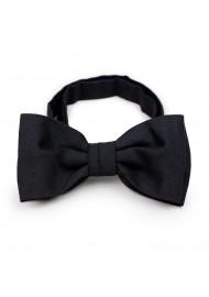 Matte Black Bow Tie