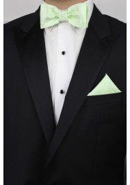 Wedding Bow Tie and Hanky Set in Seafoam Green Styled