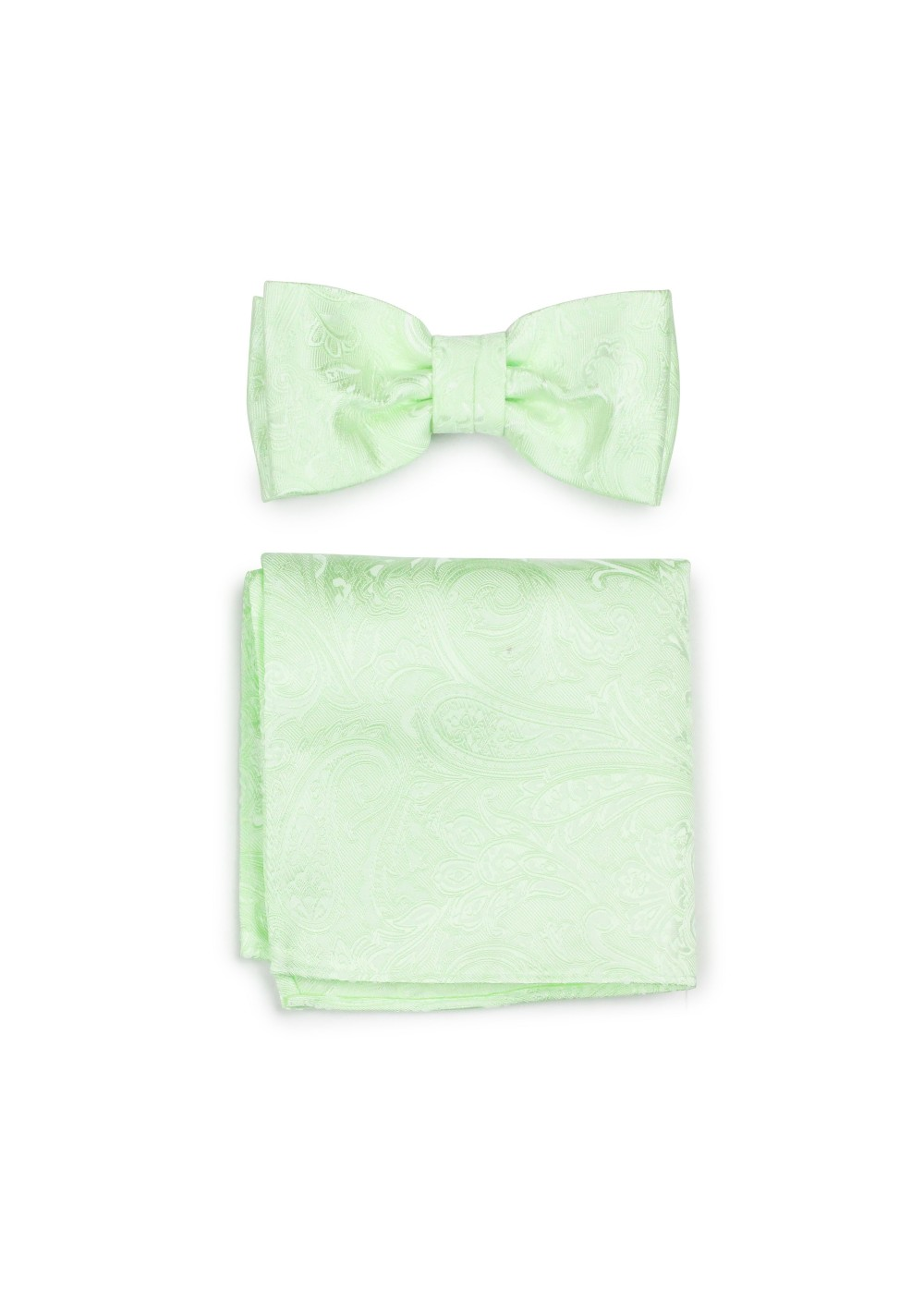 Wedding Bow Tie and Hanky Set in Seafoam Green
