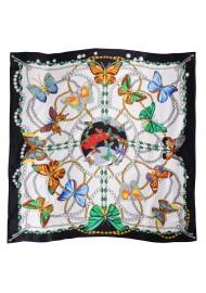 Designer Butterfly Print Silk Scarf in Premium Silk