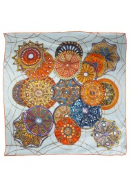 Luxe Geometric Abstract Print Ladies Silk Scarf