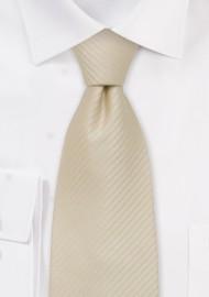 Light tan silk tie - Cream/tan colored necktie