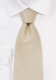 Solid color ties -  Handmade silk tie in solid cream color
