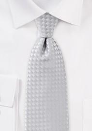Light Silver Diamond Patterned Tie