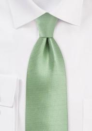 Solid Textured Tie in Laurel Green