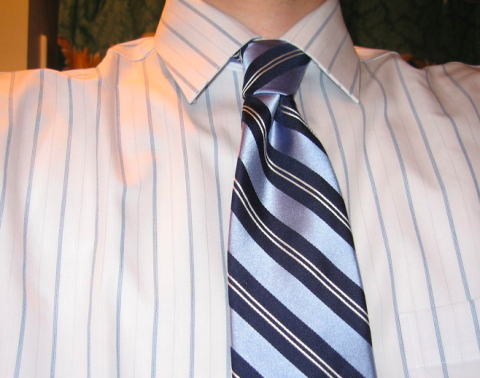 Matching striped ties with striped shirt for Black shirt and tie combinations