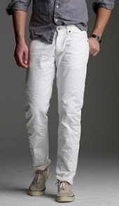 Mens White Denim Jeans