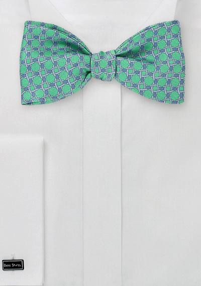 Geometric_Green_Bow_Tie