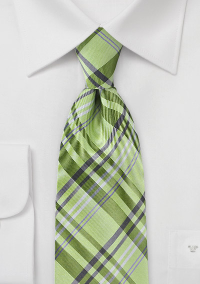 lime-plaid-necktie