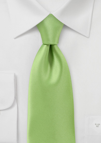 solid-lime-green-tie