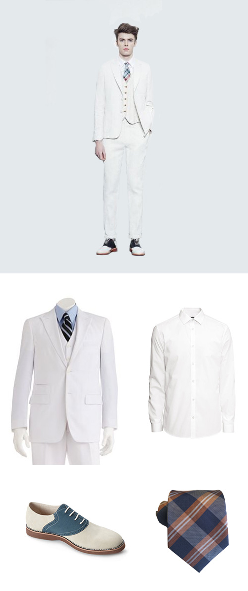 White Suit For Easter Sunday