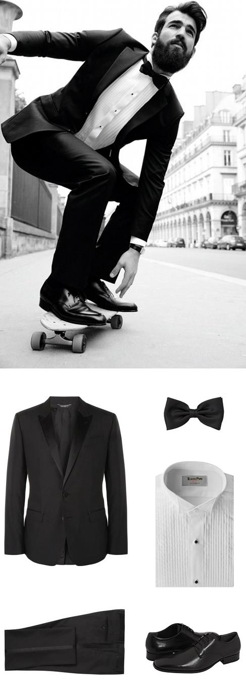 Budget Tuxedo Look