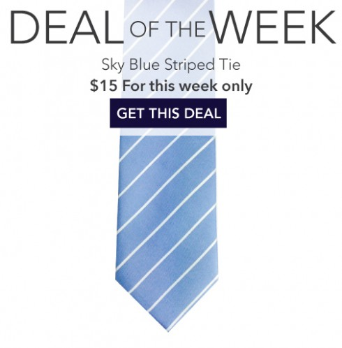 Big Sale on Linen Striped Tie