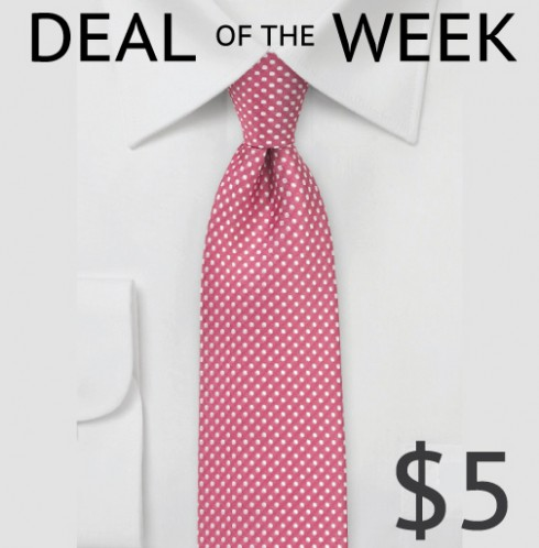 Sale On Skinny Pin Dot Tie