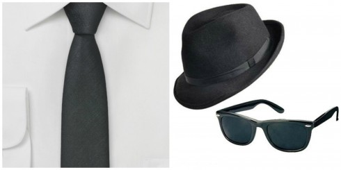 Black Skinny Tie