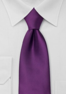 Solid Kids Necktie in Berry Purple