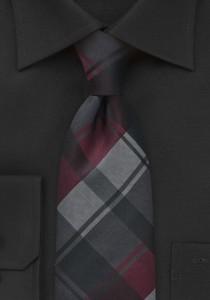 Graphic-Plaid-Tie-Burgundy