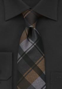 Graphic-Plaid-Tie-Brown-Black