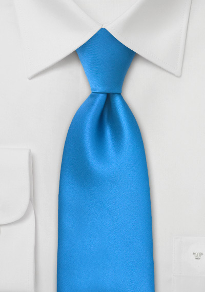 Bright Ice-Blue Necktie