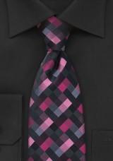 geometric-tie-pink-black