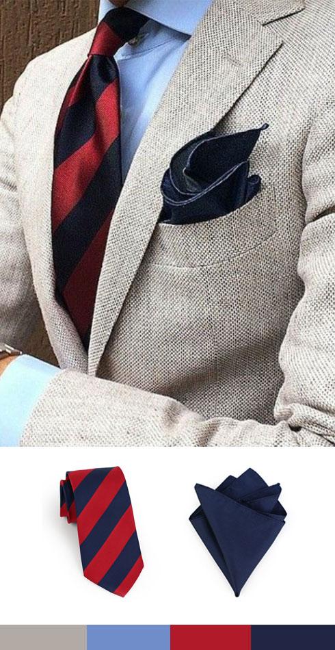 Collegiate-Stripe-Necktie-Linen-Blazer