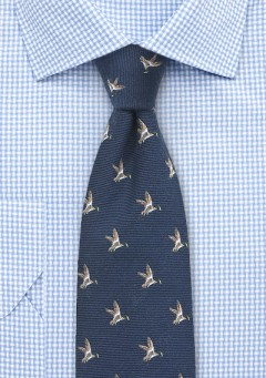 duck-necktie-navy-blue