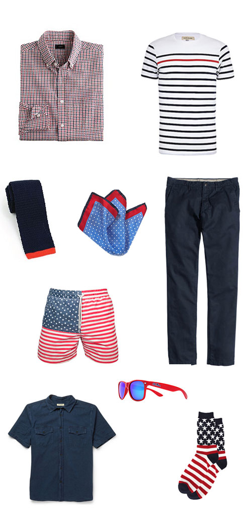 Menswear Pieces for 4th of July