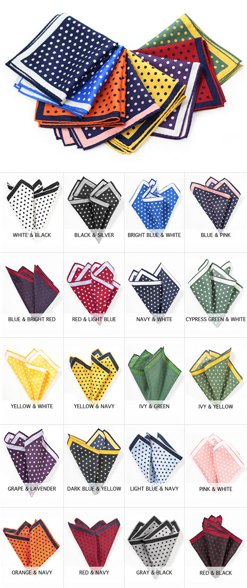 805603fee68a We are thrilled to have our best-selling new large polka dot ties now also  available as matching pocket squares. Made in an oversized scale, ...