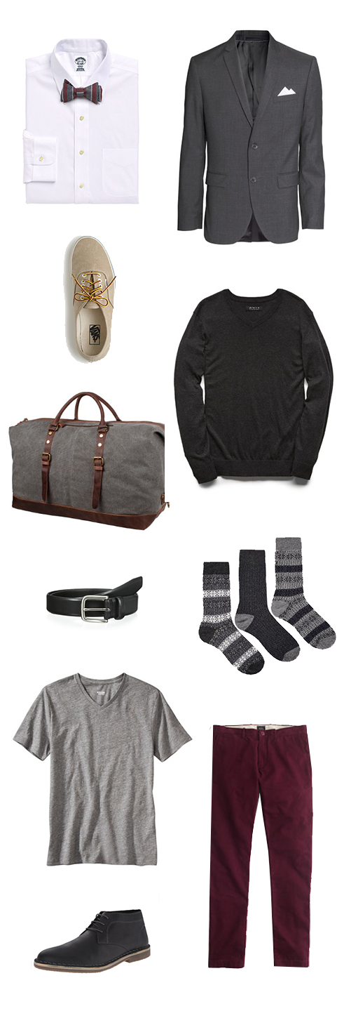 Men's Guide To What To Pack For The Holidays