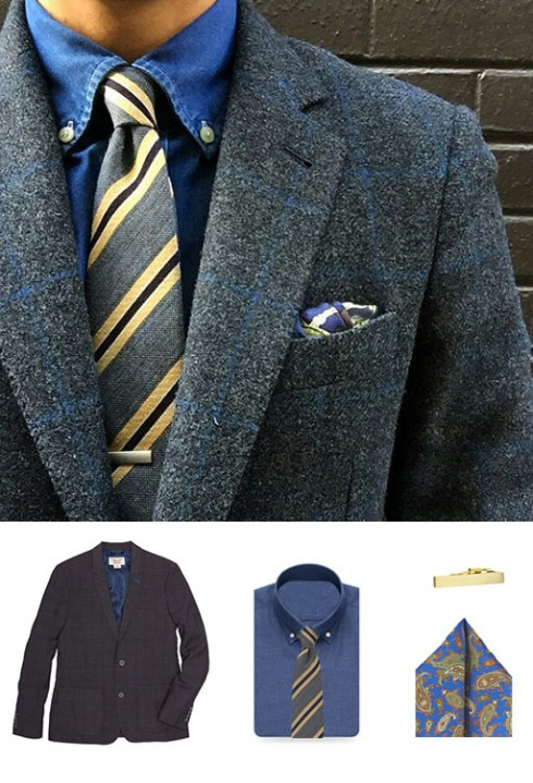 Striped Wool Tie and Blazer
