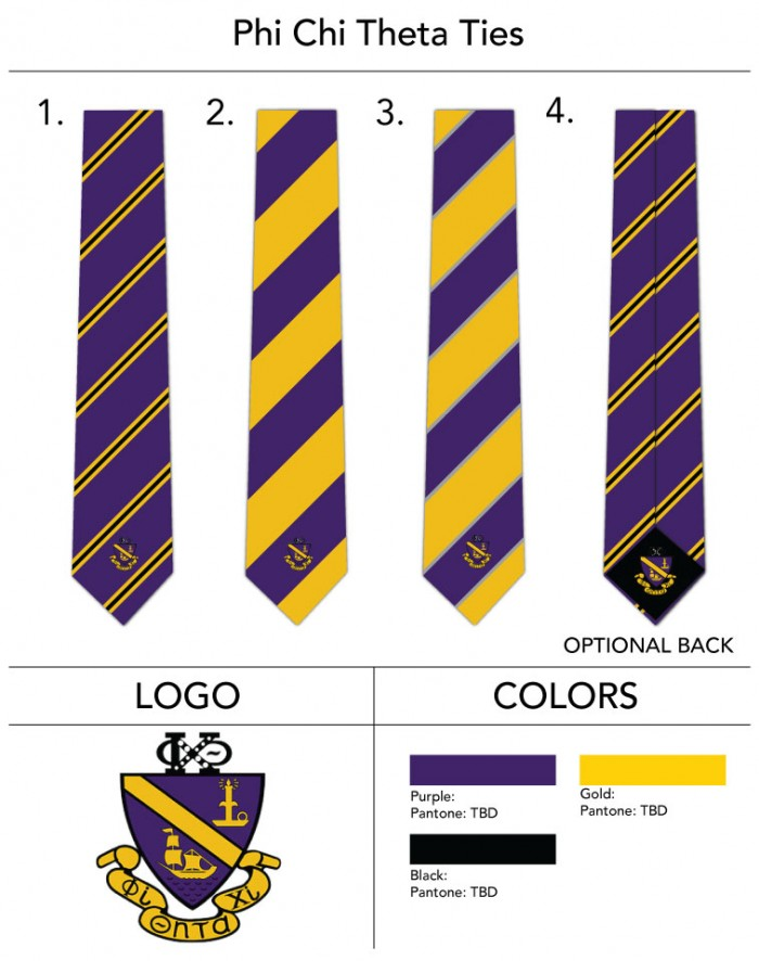 Custom Fraternity Crested Ties