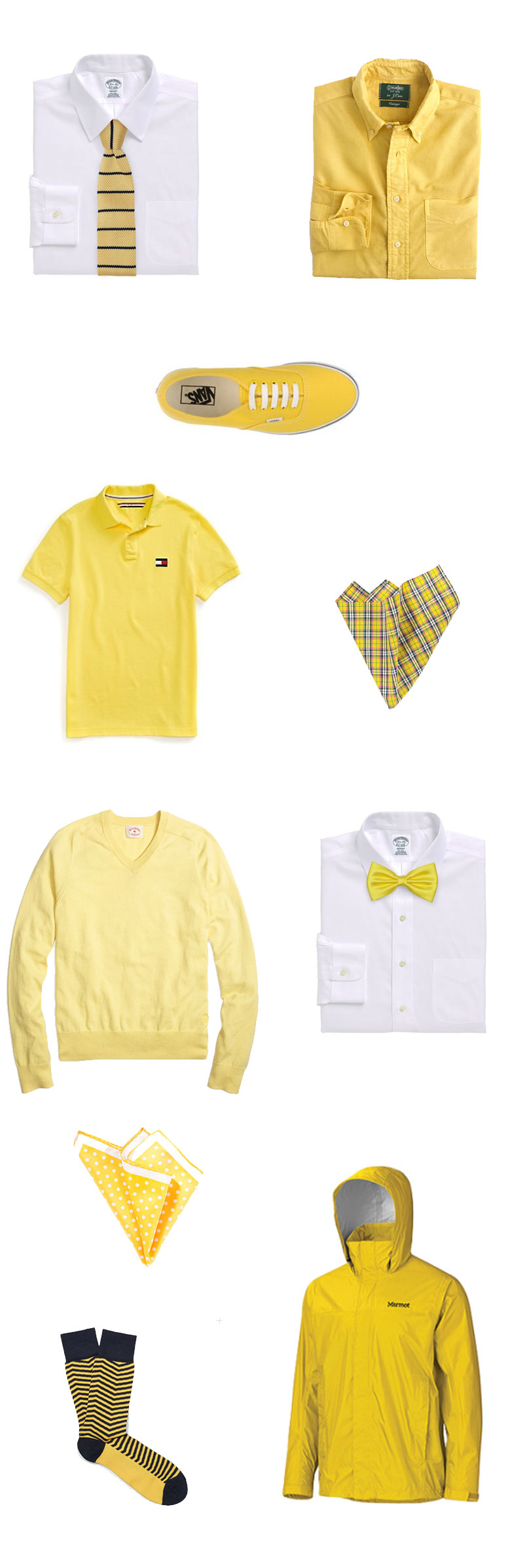 Men's Fashion Pieces in Yellow