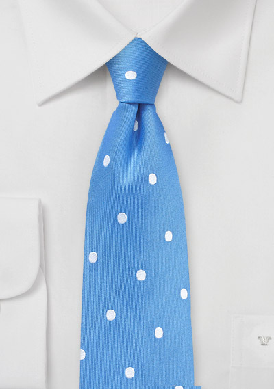 Summer Blue Polka Dot Tie