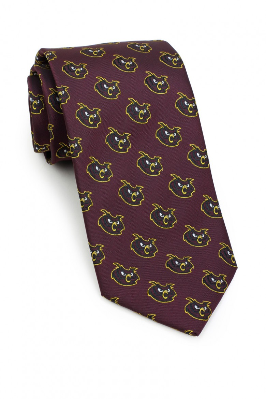 custom mascot woven necktie