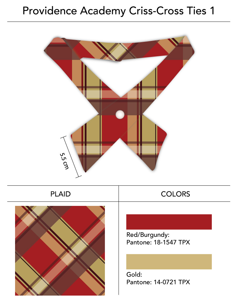 tartan plaid custom cross tie