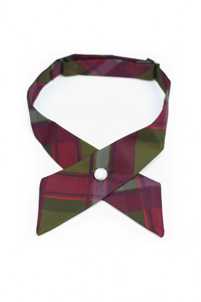 custom plaid women's cross ties